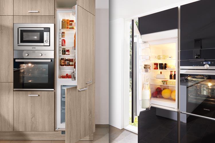 Küche Mit Side By Side Kühlschrank Integriert : Kühl gefriergeräte für ihre einbauküche in der pfiff küchenwelt